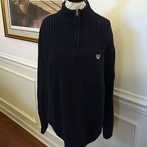 RL Chaps Navy Heavy Cotton Pullover Sweater XLT
